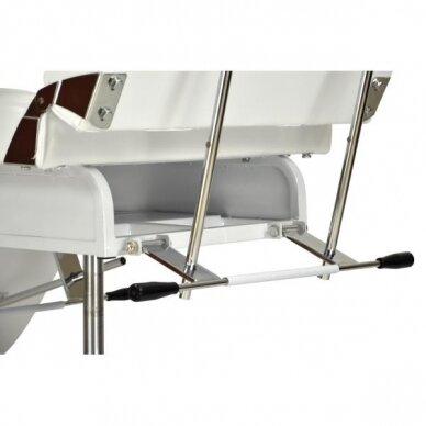 Hidraulinė kėdė pedikiūrui balta 6