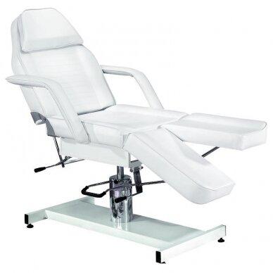 Hidraulinė kėdė pedikiūrui balta