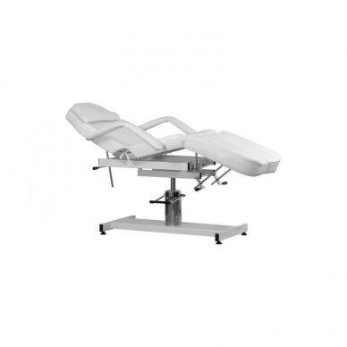 Hidraulinė kėdė pedikiūrui balta 2