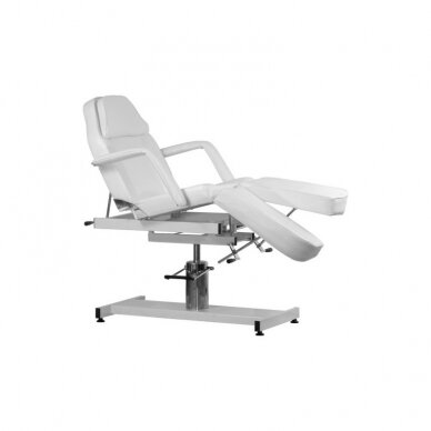 Hidraulinė kėdė pedikiūrui balta 3