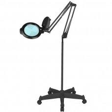 Juoda kosmetologinė LED MOONLIGHT lempa-lupa su stovu 813/6