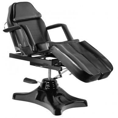 Juoda hidraulinė pedikiūro kėdė lova 2