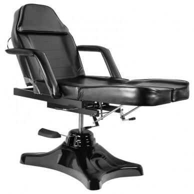 Juoda hidraulinė pedikiūro kėdė lova 4