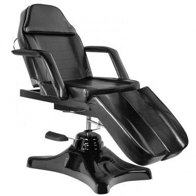 Juoda hidraulinė pedikiūro kėdė lova 6