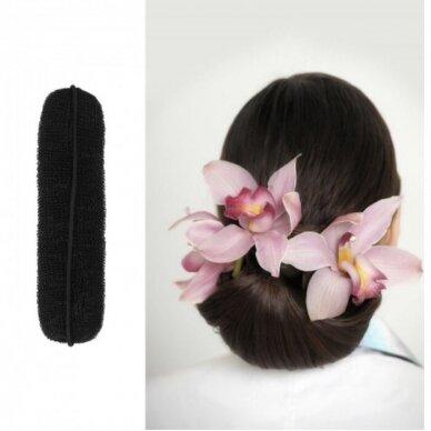 Juoda lanksti plaukų kempinėlė kuodui formuoti, 150 mm 3