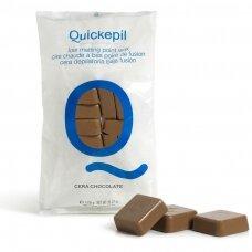 Kietasis vaškas depiliacijai QUICKEPIL, 1 kg (šokoladinis)