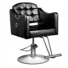 Kirpyklos kėdė. juoda