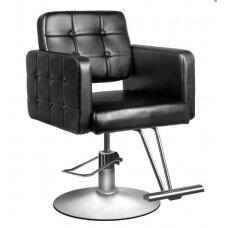 Profesionali kirpyklos kėdė su pakoju HAIR SYSTEM  90-1, juodos spalvos