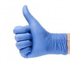Komfortiškos ir minkštos nitrilinės pirštinės PREMIUM violetinės-mėlynos XS 100vnt.