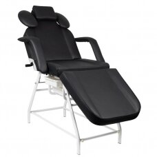 Kosmetologinė kėdė, lova, juoda