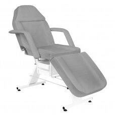 Kosmetologinė kėdė-lova, pilka