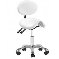 Balno tipo meistro kėdutė 1025 GIOVANNI su reguliuojamu sėdynės kampu bei atlošu, balta