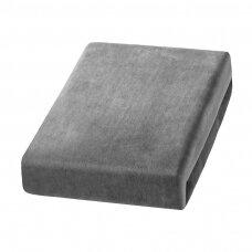 Kosmetologinės lovos užvalkalas iš veliūro 70x190 cm, pilkas