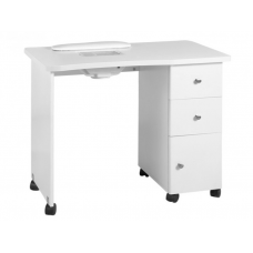 Profesionalus manikiūro stalas su ratukais bei dulkių ištraukėju MOD011B