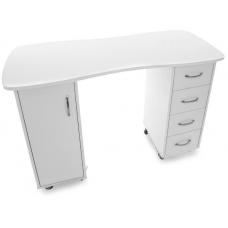Profesionalus manikiūro stalas 2027 BP, baltos spalvos