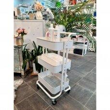 Profesionalus kosmetologinis vežimėlis HS05, baltos spalvos
