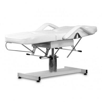 Kosmetologinė hidraulinė lova, balta 2