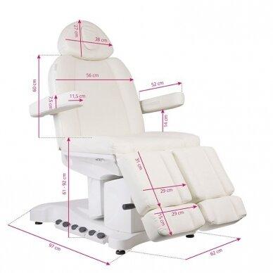 Elektrinė kosmetologinė kėdė AZZURRO 708BS PEDI PRO EXCLUSIVE 3 variklių, su šildymo funkcija 14