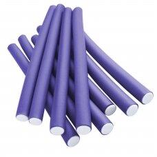Lankstūs suktukai plaukams violetiniai 18 mm, 10 vnt.