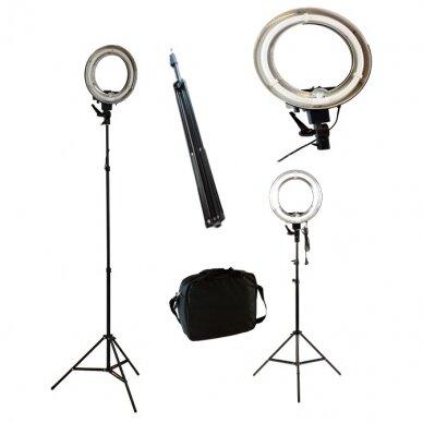 Makiažo lempa 12R, su stovu ir krepšiu 2