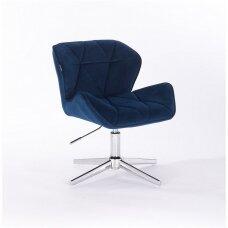 Meistro kėdutė, mėlynos spalvos stabiliu keturašiu pagrindu