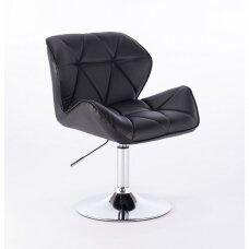 Meistro kėdutė stabiliu padrindu, juoda