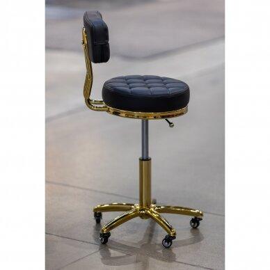 Meistro kėdutė su ratukais GOLD AM-961, juoda 4