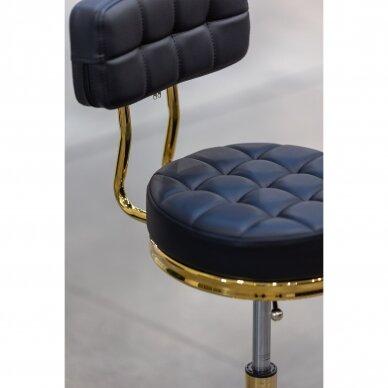 Meistro kėdutė su ratukais GOLD AM-961, juoda 5
