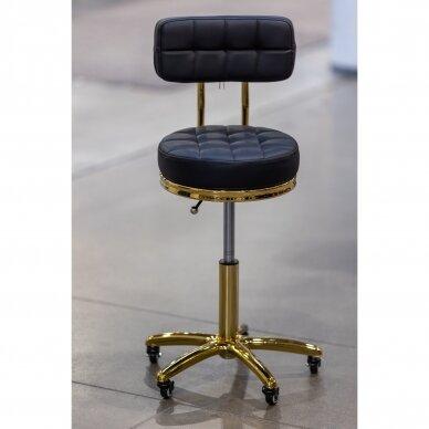 Meistro kėdutė su ratukais GOLD AM-961, juoda 3