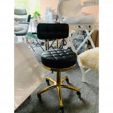 Meistro kėdutė su ratukais GOLD AM-961, juoda 7