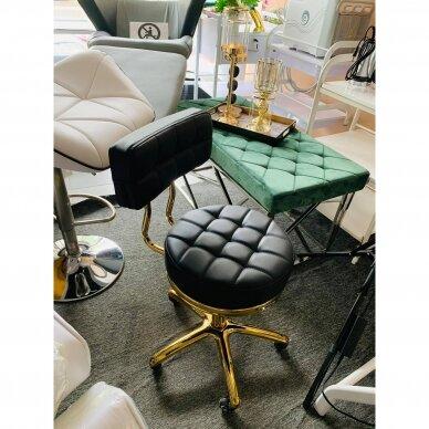 Meistro kėdutė su ratukais GOLD AM-961, juoda 6