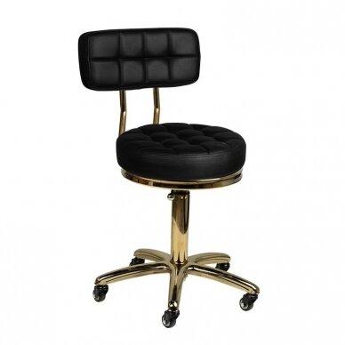 Meistro kėdutė su ratukais GOLD AM-961, juoda