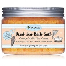 NACOMI Dead Sea Bath Salt ORANGE-VANILLA vonios druska, 450 g.