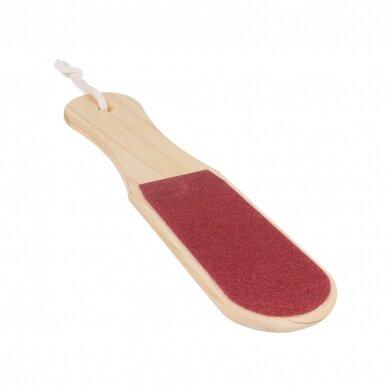 Pėdų odos šveitimo medinė mentelė, dvipusė 5
