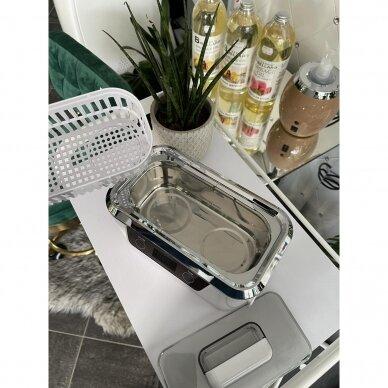 Profesionali ultragarso vonelė instrumentų valymui ACDS-300, (tinka manikiūro dildėms) 800 ml. 5