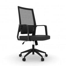 Registratūros, biuro kėdė COMFORT 10, juoda