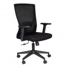 Registratūros, biuro kėdė COMFORT 32, juoda