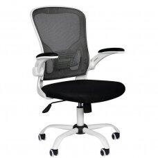 Registratūros, biuro kėdė ECO COMFORT 02, baltai juoda