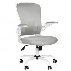 Registratūros, biuro kėdė ECO COMFORT 02, baltai pilka