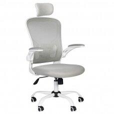 Registratūros, biuro kėdė MAX COMFORT 73H, baltai pilka
