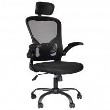 Registratūros, biuro kėdė MAX COMFORT 73H, juoda
