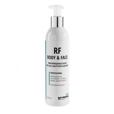 RF BODY AND FACE losjonas radijo dažnio procedūroms, 250 ml
