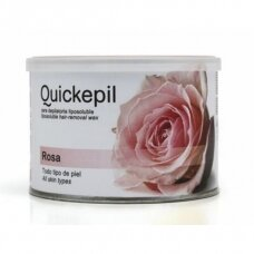 QUICKEPIL rožių vaškas depiliacijai skardinėje, 400 ml
