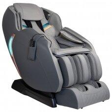 SAKURA fotelis su masažo funkcija pilkos spalvos PREMIUM 807