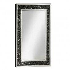 Grožio salono veidrodis su kristaliukais, sidabro spalvos 120*80