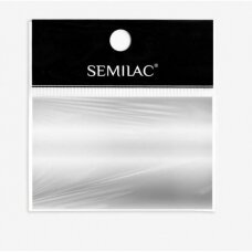 SEMILAC SILVER 01 dekoratyvi folija nagų dailei, sidabrinė