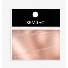 SEMILAC ROSE GOLD 03 dekoratyvi folija nagų dailei, rožinis auksas