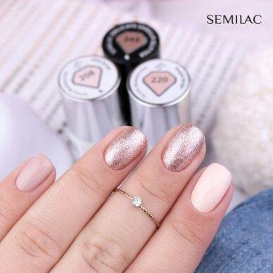 SEMILAC 349 gelinis lakas Hybrid Delicate Vanilla Glitter 7 ml 3