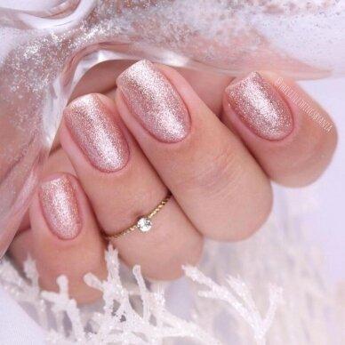 SEMILAC 349 gelinis lakas Hybrid Delicate Vanilla Glitter 7 ml 4