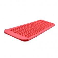 Silikoninis kilimėlis/rankovė karštoms žnyplėms laikyti, raudonas